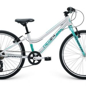 2018 Neo 24 7 Gear Girls Brushed Alloy/Turquoise/Charcoal