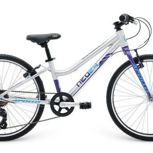 2018 Neo 24 7 Gear Girls Brushed Alloy/Purple/Blue