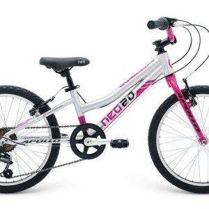 2018 Neo 20 6 Gear Girls Brushed Alloy/Pink/Black